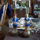 Vintage Man and Woman Porcelain Lamps