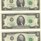10 Sequential 1995 $2.00 Federal Reserve Notes