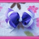 Purple and White Hairbow