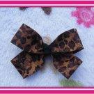 Cheetah Print Hairbow
