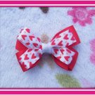 Small Red Heart Hairbow
