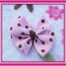 Pink Ribbon With Brown Polka Dots