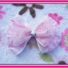White and Pink Hairbow