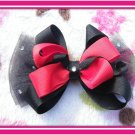 Red And Black Hairbow