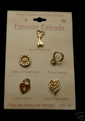 CUTE FOREVER FRIENDS PINS CHARMS HEART RING DAISY JEWEL