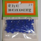 Vintage Solid Blue Plastic The Beadery Beads Packaged