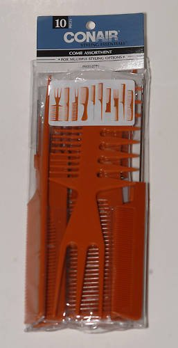 Conair Styling Essentials 10 Hair Comb Styling Assort