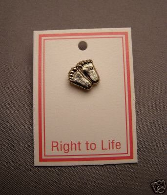 BABY FEET RIGHT TO LIFE PIN JEWELRY VINTAGE COLLECTIBLE