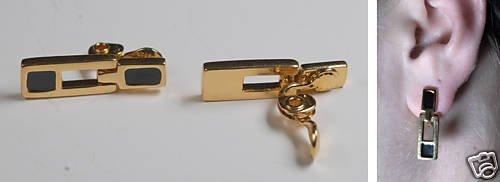 VINTAGE GOLD TONE CLIP ON MONET EARRINGS JEWELRY