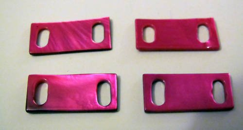 Vintage Hot Pink Seashell Jewelry Making Connector Set