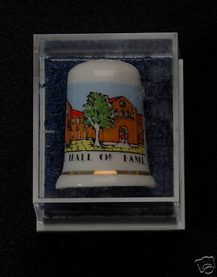 BASEBALL HALL FAME COLLECTIBLE THIMBLE BONE CHINA VINTA