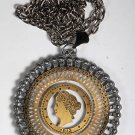 VINTAGE 1913 QUEEN ENGLISH? PENDANT NECKLACE JEWELRY