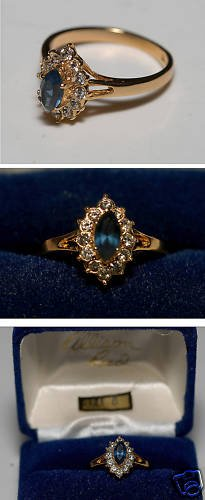 ALLISON REED BLUE SAPPHIRE CUBIC ZIRCONIA RING JEWELRY