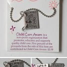 VINTAGE CHILD CARE AWARNESS NECKLACE  18 INCH CHAIN
