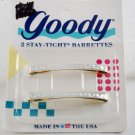 Retro 1989 Goody Stay Tight Hair Barrettes Pair New in Package White Hologram