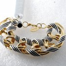 Guess Large Link Bracelet Ribbon Gold Plated Metal New With Tag Jewelry