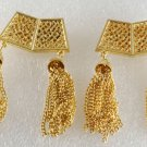 Vintage Gold Plated with Gold Tassels Shoe Clips SHoe Accessories