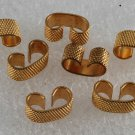 Vintage Set of 6 Bumped Gold Metal Connectors Jewelry Making