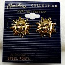 Cheshire Collection Gold Plated Sun Earring Jewelry