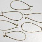 Vintage Brass Metal Oval Loop Ear Wire Jewelry Making 6