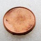 Vintage Locket OLD Copper BRass Round Jewelry Making Pendant