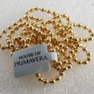 "Vintage Necklace Beaded Gold Plated House of Primavera 34"" Jewelry"