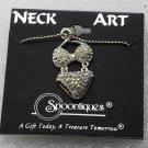 Spoontiques Neck Art Bikini Necklace Clear Rhinestones Silver Beaded Chain
