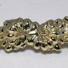Vintage  France Gold Metal Mollusk Shell Hair Barrette