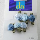 Da Fashion Satin Flower Barettes New On Card Hair Accessories