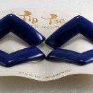 Vintage Blue Tip Toe SHoe Clips Art Deco Style Plastic Shoe Accessories