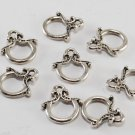 Set of 8 One side of Toggle Clasp No Bar Jump Ring Jewelry Making Finding