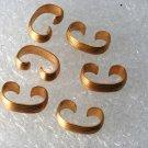 Vintage Set of 6 Brass Metal Ridged Connectors Jewelry Making