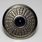 Vintage Silver Metal Blue Center Eduardo Shawl Clip