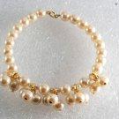 Vintage Faux Pearl Jewelry Making Cluster Bracelet  Pendant Finding