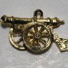 Vintage Gold Tone Cannon Pendant Charm Finding