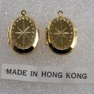 Vintage Gold Plated Pair Hong Kong Star Lockets