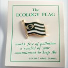 ECOLOGY FLAG POLLUTION FREE  ENAMEL  PIN ENVIROMENTAL  NOC