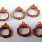 Vintage Set of 6 Copper Stamping Hand Cuff Charms Jewelry Making