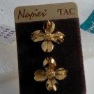 Vintage Napier Dogwood Blossom Original Pin Scatter Tac Pair NOC Jewelry
