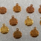 Vintage Lot of Pebbled Raw Brass Pendant Charms Jewelry Making Charm Bracelets