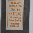 VINTAGE BRABANT NO. 11 BEADING NEEDLES ENGLAND New in Package