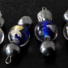 LTV Vintage Venitian Murano Style Glass Bead Dangles Jewelry Making Set of 4