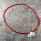 Vintage Red Rubber Necklace Silver 925 Tarnished Clasp Choker Jewelry