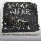Scrap Wear Found Object ARt By Karen Karch Pin Brooch Jewelry Silver Tone Metal