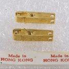 Vintage Gold Rhinestone Hong Kong Clothes Pin Pendants
