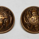 Vintage Gold Metal Coat of Arms Buttons Findings