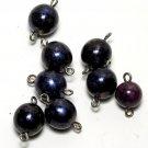 Vintage Set of 8 Multicolor Purple Glass Bead Finding