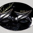 Vintage Silver Tone Metal Eduardo Shoe Clips