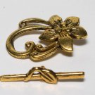 Vintage Gold Flower Vine Toggle Clasp Jewelry Making