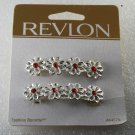 Revlon 44575 Hair Barrette Flower Red Rhinestone Accessorie 1997 Goody Product